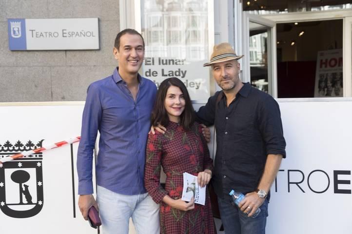 Roberto Santiago, Ana Fernández y Antonio Gil,  equipo de 'El lunar de lady Chatterley'