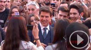 Tom Cruise y su sonrisa en el estreno de La Momia