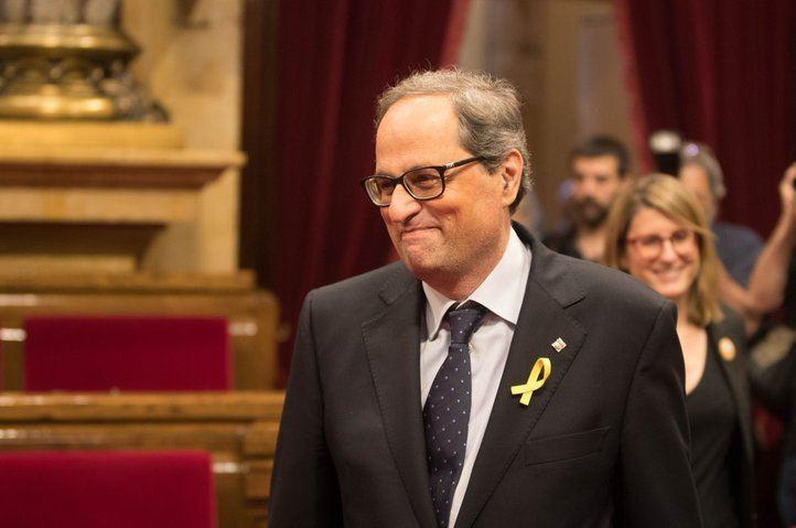 Quim Torra, elegido presidente con la abstención de la CUP