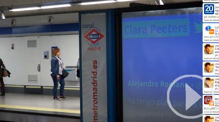 La actualidad de Twitter viaja en el Metro de Madrid