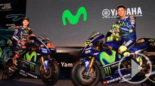 Presentación del equipo Yamaha Movistar GP en Madrid