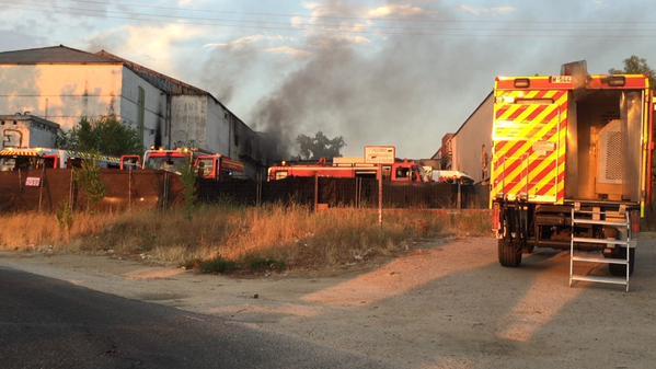Incendio en el antiguo matadero de Villaviciosa de Odón