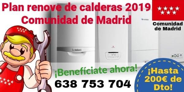 Plan renove de calderas 2019 en la Comunidad de Madrid