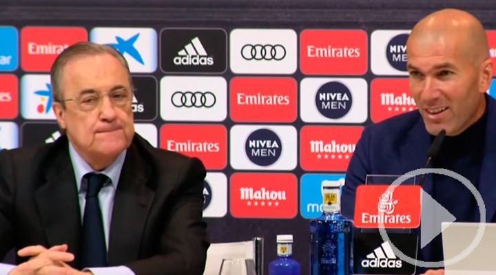Florentino Pérez respeta y asume la decisión de Zidane