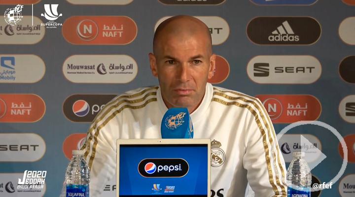 Zidane: el partido contra el Valencia es una final
