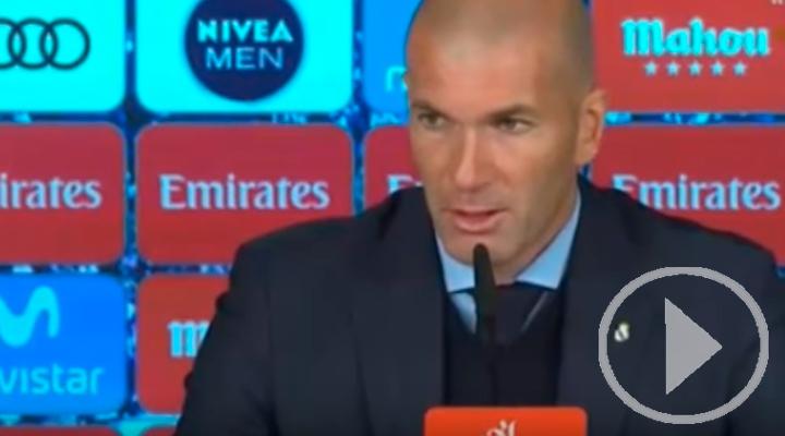 Zidane se echa toda la culpa del fracaso ante el Leganés