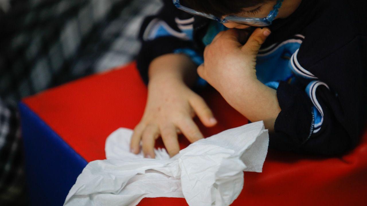 En el María Corredentora, los alumnos aprenden jugando cosas tan fundamentales como masticar. Kike Rincón