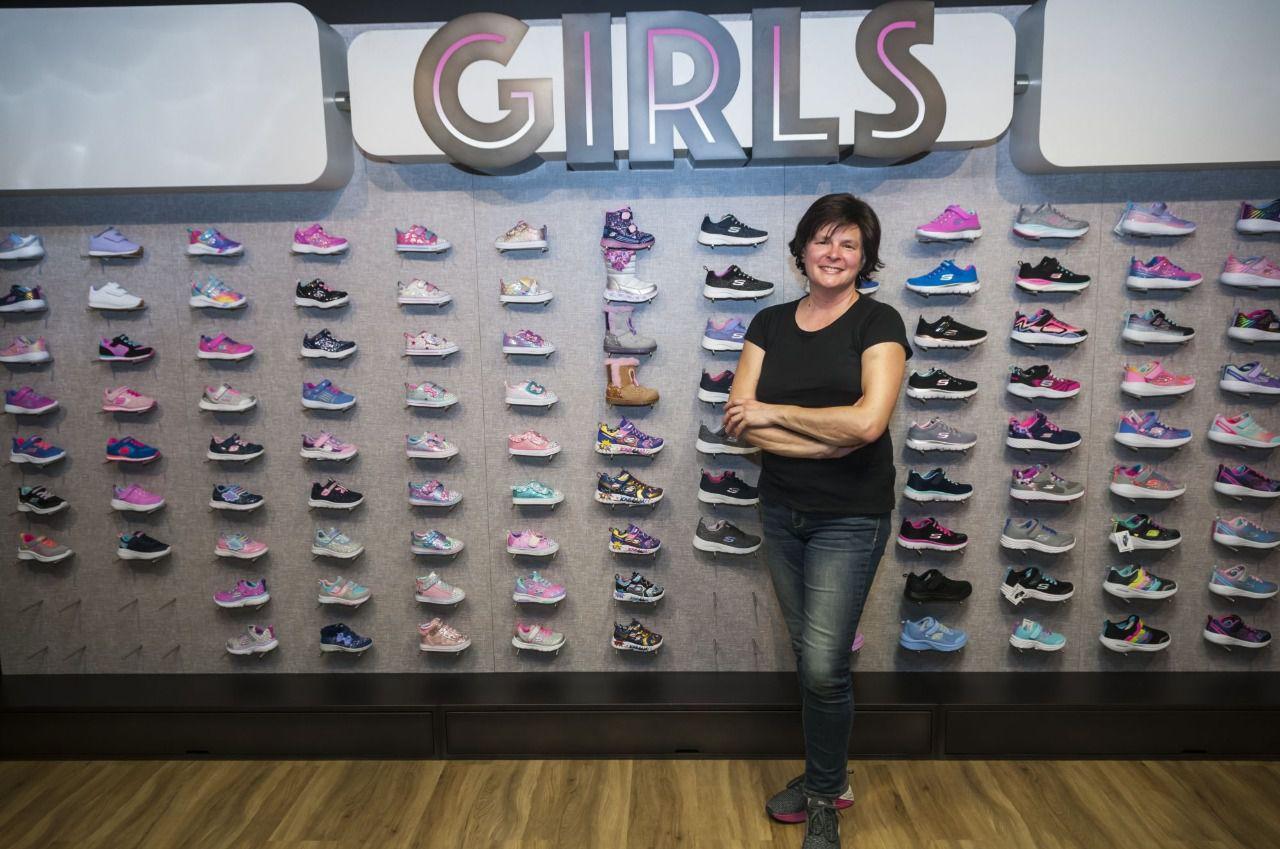 Rosa Allegue en las oficinas de Skechers Iberia. (Foto: Chema Barroso)